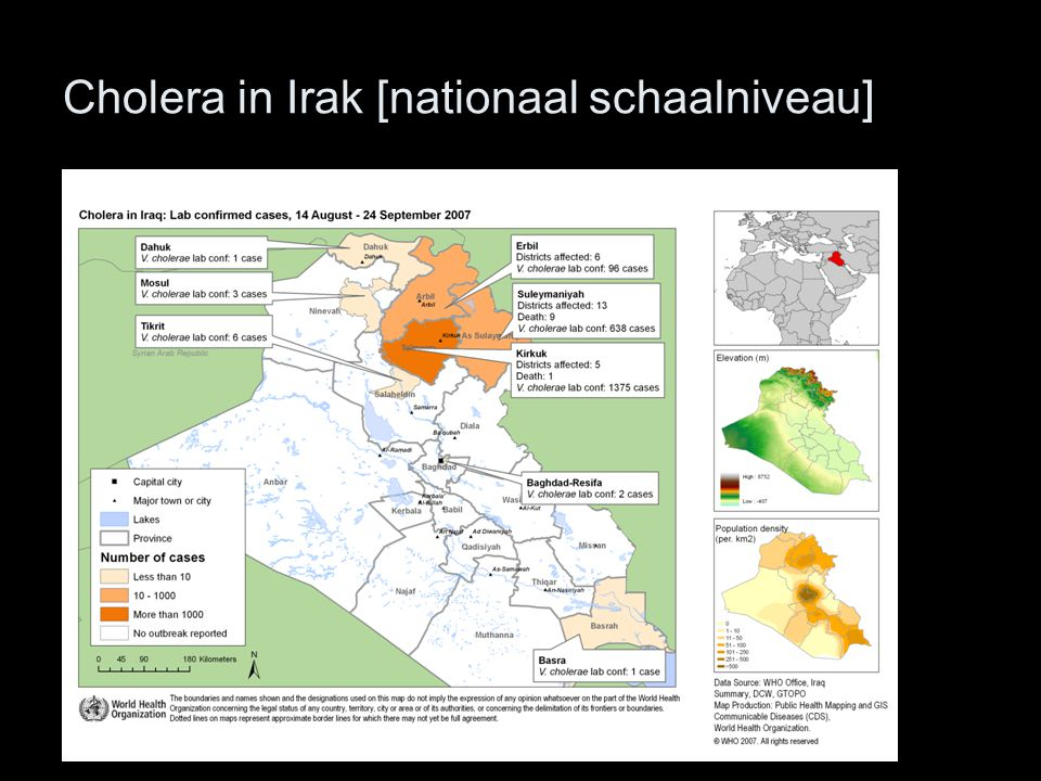 Cholera in Irak [nationaal schaalniveau]